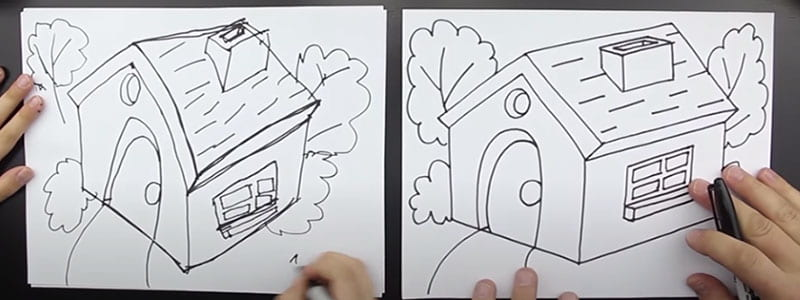 Drawing Houses and Ferris Wheels Banner