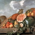 """""""Pineapple, Watermelons and Other Brazillian Fruits"""" by Albert Eckhout (17th-century)"""