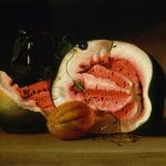 """""""Melons and Morning Glories"""" by Raphaelle Peale (1813)"""