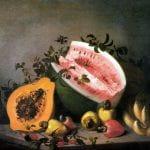 """""""Papaya and Watermelon"""" by Agostinho José da Mota (1860)"""