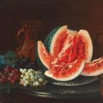 """""""Natura Statica cu Fructe"""" by Mihail Stefanescu (1864)"""