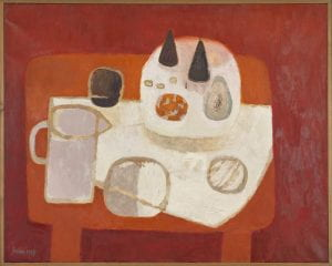 """Red Still Life"" by Mary Fedden (1967)"