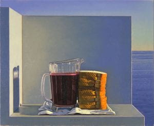 """Still Life with Grape Juice and Sandwiches"" by David Ligare (1994)"