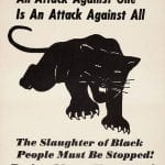 Black Panther Party Protest Sign