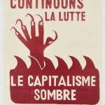 """""""Continuons la Lutte"""" Poster"""