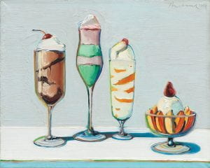 """Confections"" by Wayne Thiebaud (1962)"
